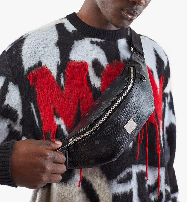 MCM Fursten Belt Bag in Visetos Black MMZAAFI04BK001 Alternate View 5