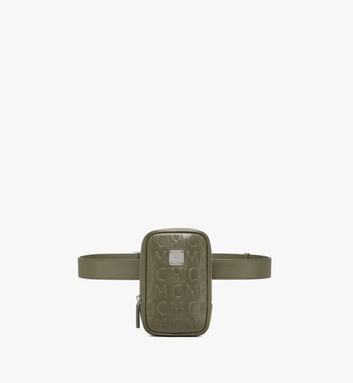 กระเป๋าคาดเอว N/S Klassik วัสดุหนังลายโมโนแกรม MCM