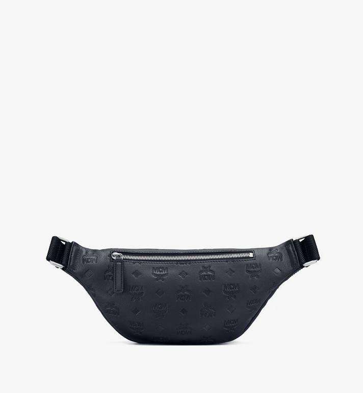 MCM Fursten Belt Bag in Monogram Leather Black MMZASFI01BK001 Alternate View 2