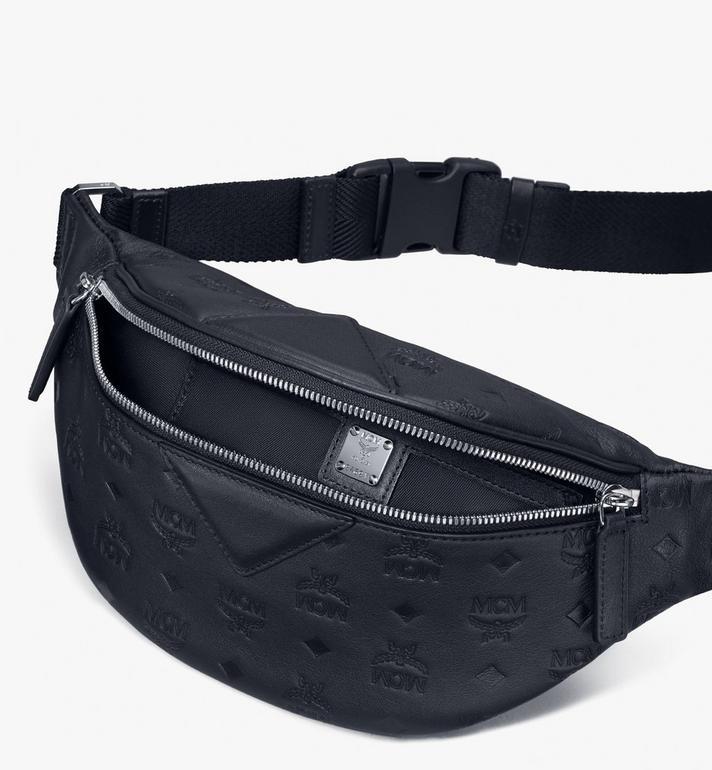 MCM Fursten Belt Bag in Monogram Leather Black MMZASFI01BK001 Alternate View 3