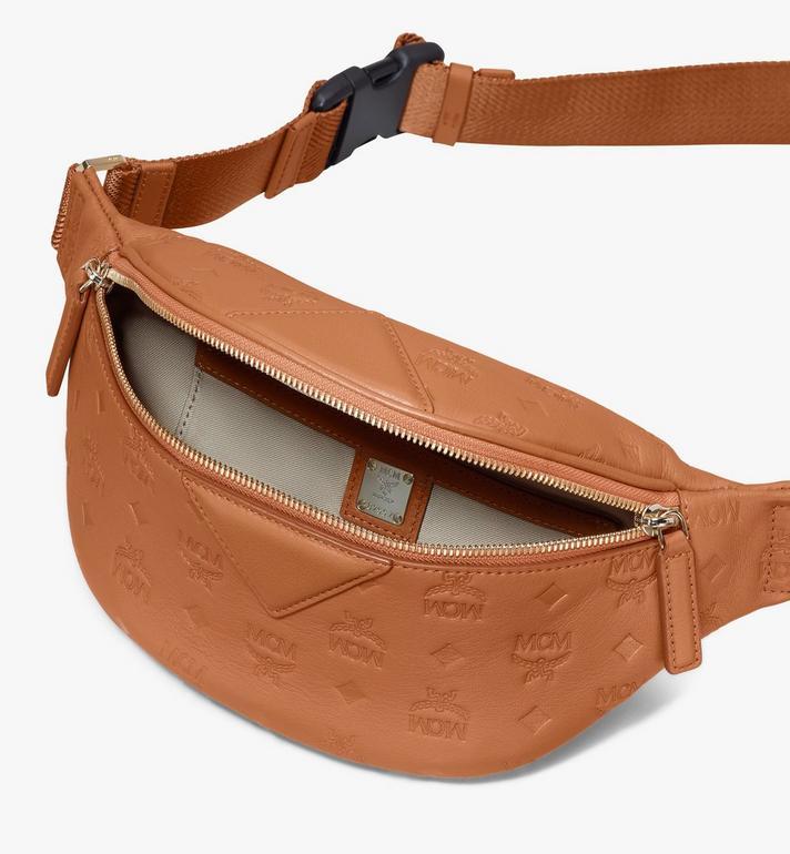 MCM Fursten Belt Bag in Monogram Leather Cognac MMZASFI01CO001 Alternate View 3