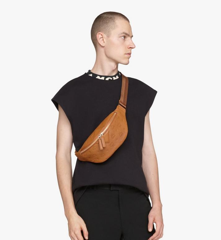 MCM Fursten Belt Bag in Monogram Leather Cognac MMZASFI01CO001 Alternate View 5