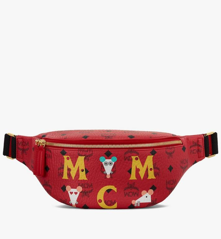 MCM Year Of The Mouse Fursten Belt Bag in Visetos Alternate View