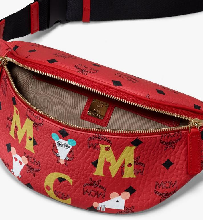 MCM Fursten Visetos 鼠年腰包 Red MMZASFI02RJ001 Alternate View 3