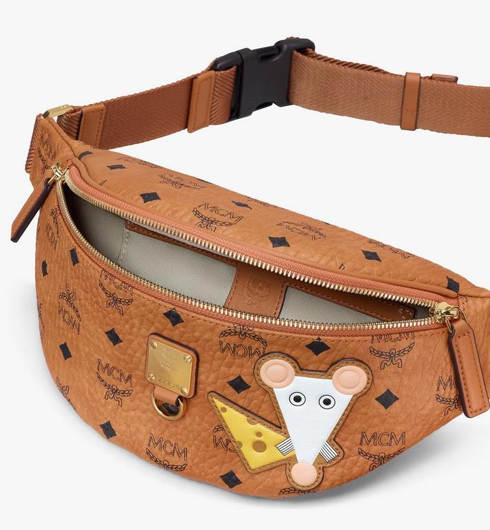 MCM Year Of The Mouse Fursten Belt Bag in Visetos Cognac MMZASFI08CO001 Alternate View 3
