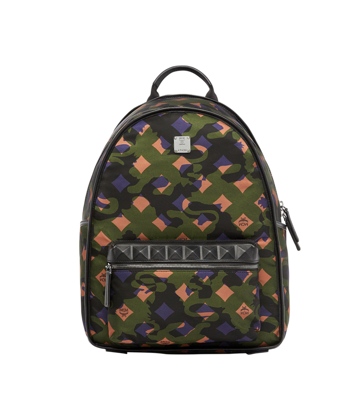 MCM Dieter Rucksack in Munich Lion Camo Nylon Alternate View 1