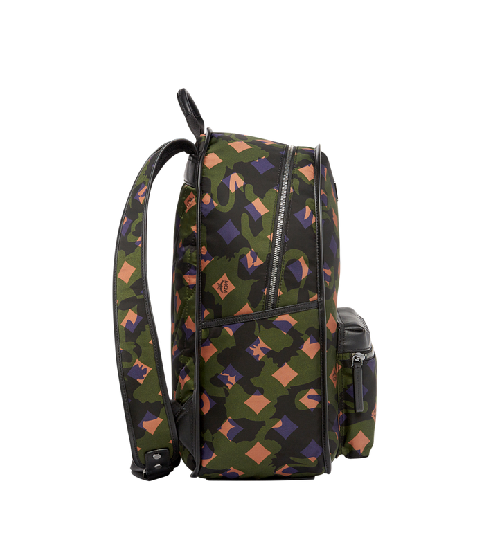 MCM Dieter Rucksack in Munich Lion Camo Nylon Alternate View 3