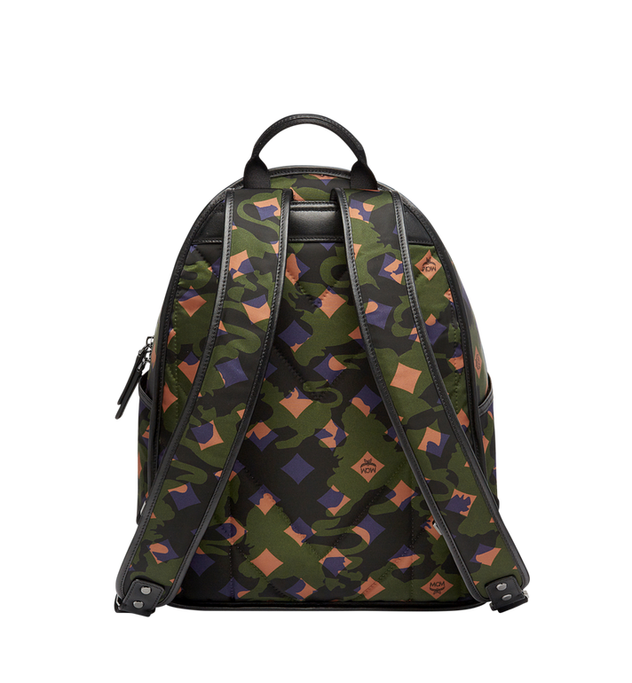 MCM Dieter Rucksack in Munich Lion Camo Nylon Alternate View 4