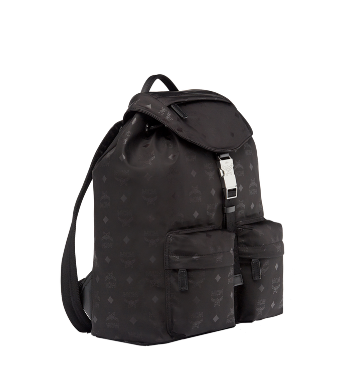 MCM Kreuzberg Rucksack in Monogram Nylon Black MUK7ADT17BK001 Alternate View 2