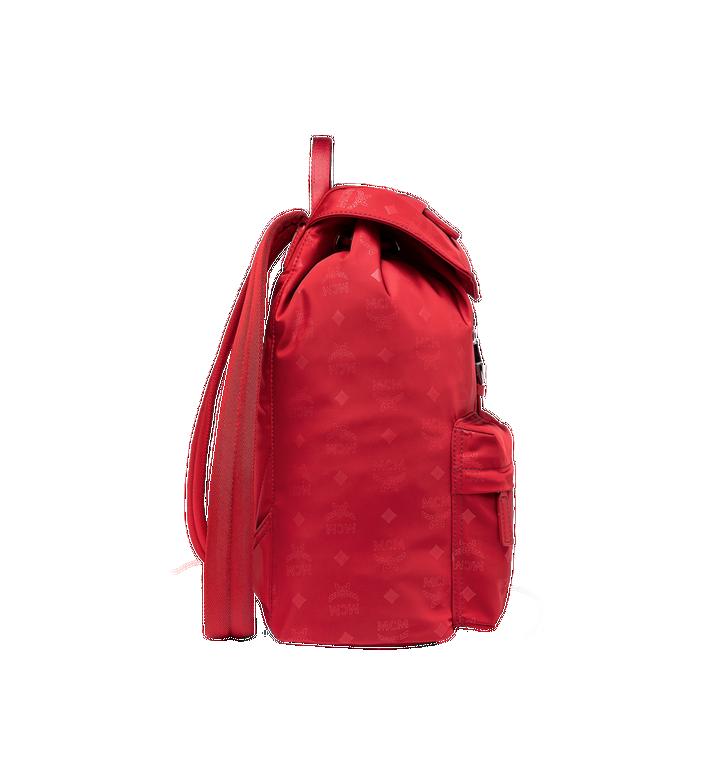 MCM Dieter Two Pocket Rucksack aus Nylon mit Monogramm Alternate View 3