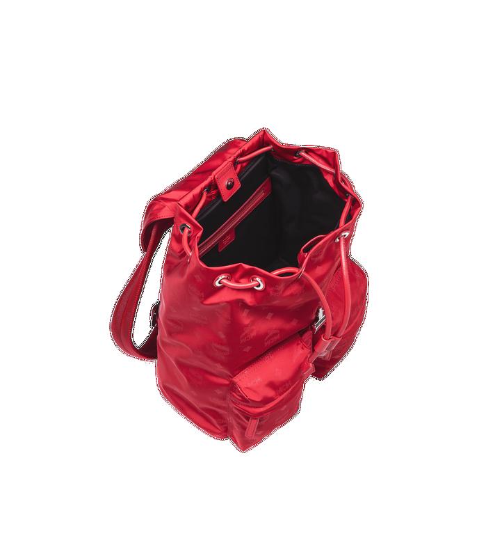 MCM Dieter Two Pocket Rucksack aus Nylon mit Monogramm Alternate View 5