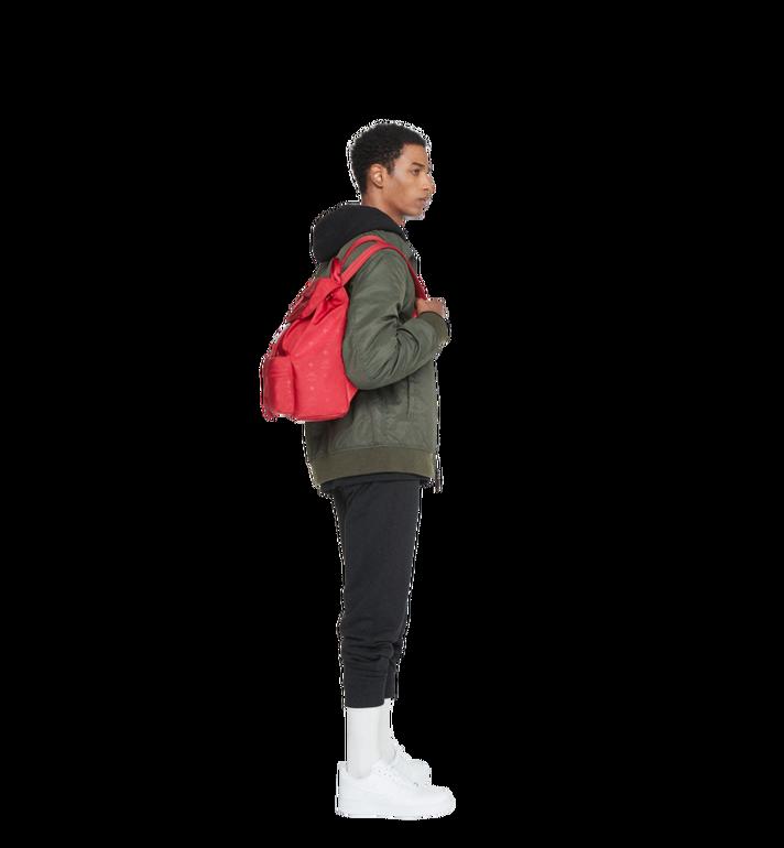 MCM Dieter Two Pocket Rucksack aus Nylon mit Monogramm Alternate View 6