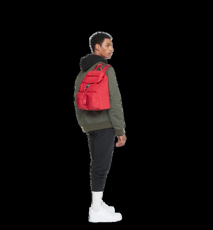 MCM Dieter Two Pocket Rucksack aus Nylon mit Monogramm Alternate View 8