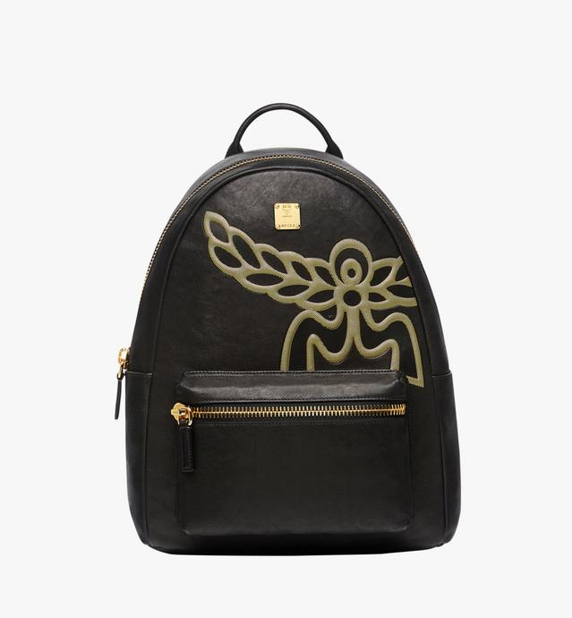 Stark Laurel Logo Backpack in Leather
