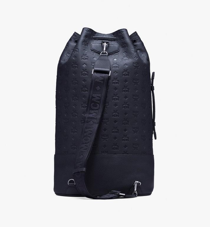 MCM Trivitat Drawstring Backpack in Monogram Leather Black MUK9ABT01BK001 Alternate View 3