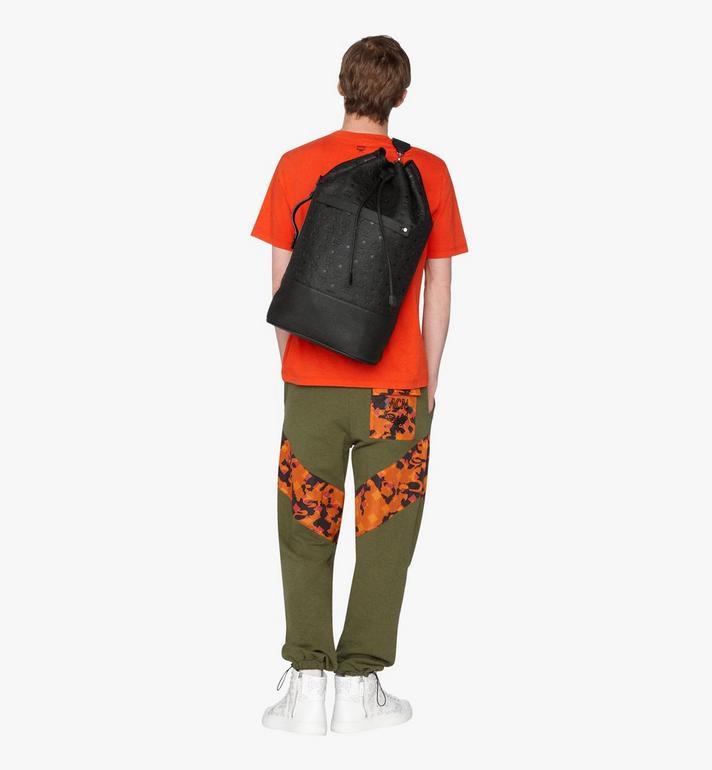 MCM Trivitat Drawstring Backpack in Monogram Leather Black MUK9ABT01BK001 Alternate View 5