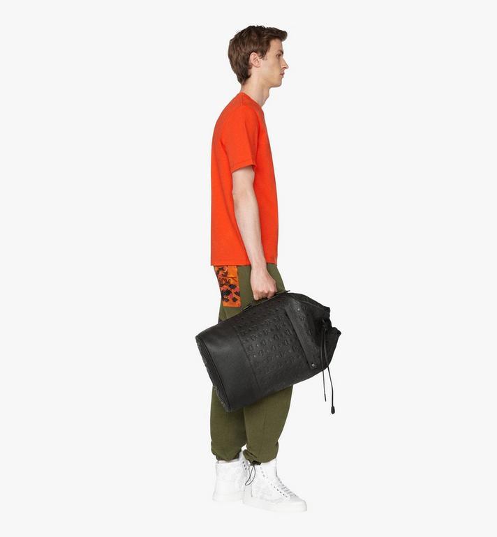 MCM Trivitat Drawstring Backpack in Monogram Leather Black MUK9ABT01BK001 Alternate View 6