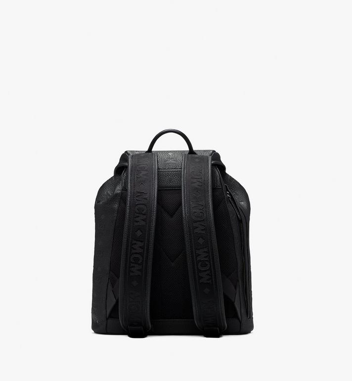 MCM Tivitat Two-Pocket Backpack in Monogram Leather Black MUK9ABT03BK001 Alternate View 3