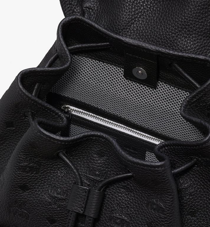 MCM Tivitat 皮革雙口袋雙肩後背包 Black MUK9ABT03BK001 Alternate View 4