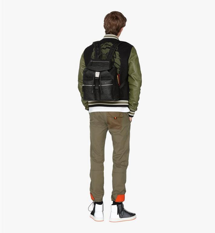 MCM Tivitat 皮革雙口袋雙肩後背包 Black MUK9ABT03BK001 Alternate View 5
