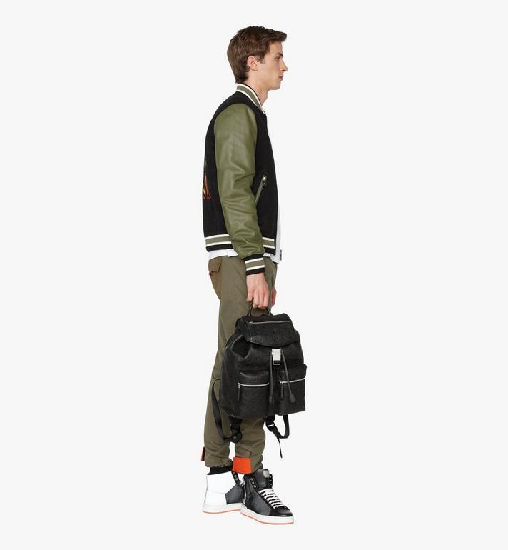 MCM Tivitat Two-Pocket Backpack in Monogram Leather Black MUK9ABT03BK001 Alternate View 6