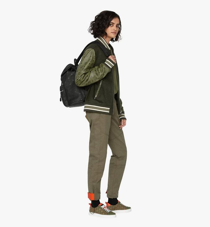 MCM Tivitat 皮革雙口袋雙肩後背包 Black MUK9ABT03BK001 Alternate View 7