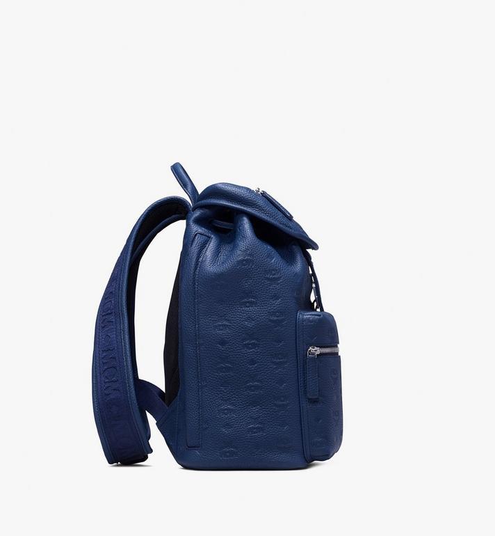 MCM Tivitat Two-Pocket Backpack in Monogram Leather Navy MUK9ABT03VA001 Alternate View 2