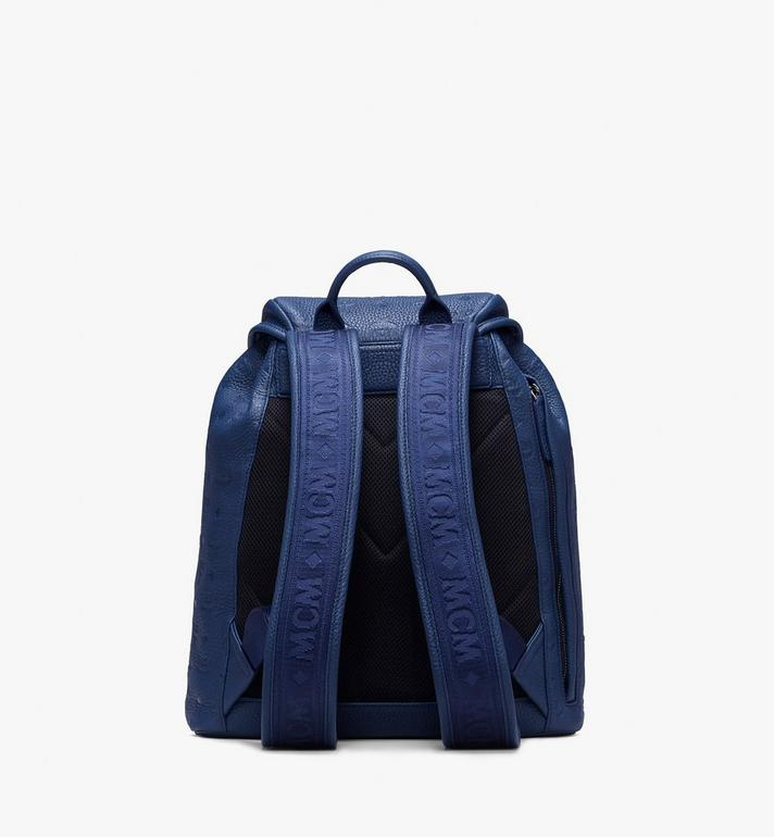 MCM Tivitat Two-Pocket Backpack in Monogram Leather Navy MUK9ABT03VA001 Alternate View 3