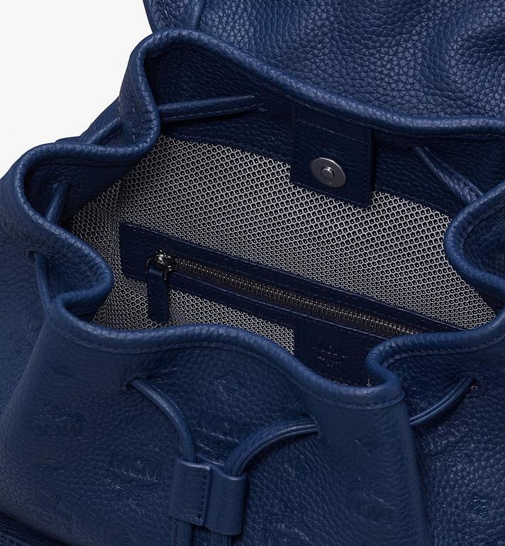 MCM Tivitat 皮革雙口袋雙肩後背包 Navy MUK9ABT03VA001 Alternate View 4