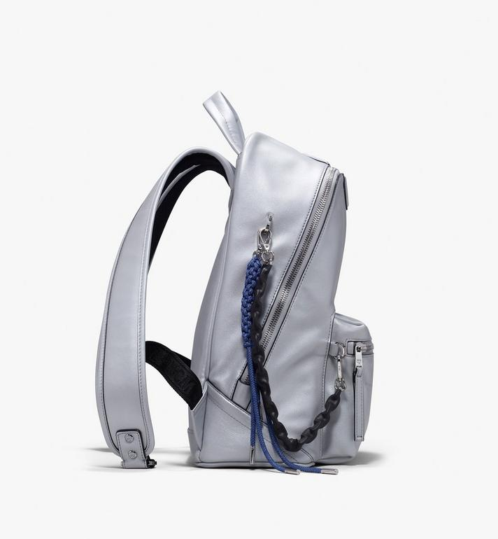 MCM Neo Duke Backpack in Leather Silver MUK9ADK02SB001 Alternate View 2
