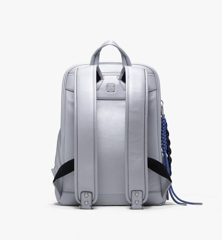 MCM Neo Duke Backpack in Leather Silver MUK9ADK02SB001 Alternate View 3