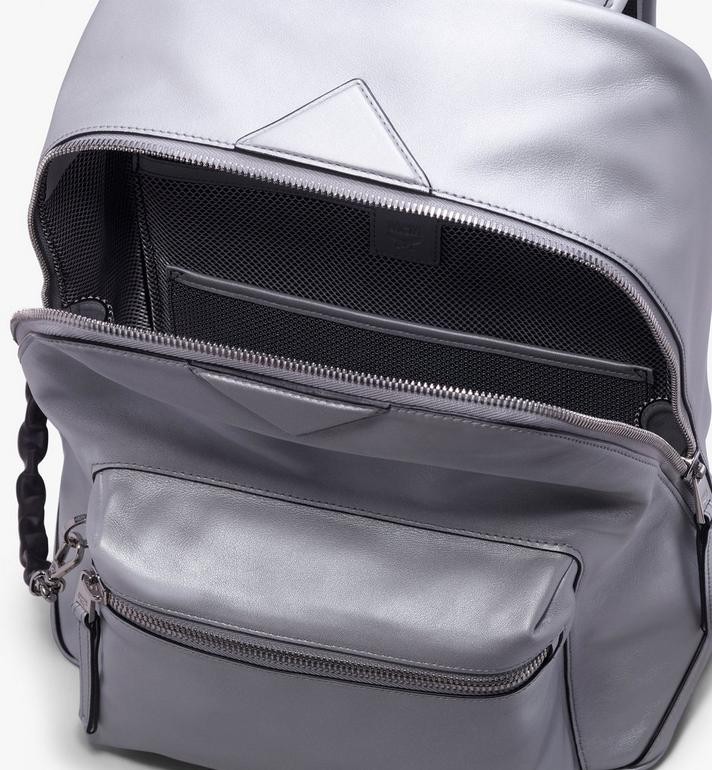 MCM Neo Duke Backpack in Leather Silver MUK9ADK02SB001 Alternate View 4