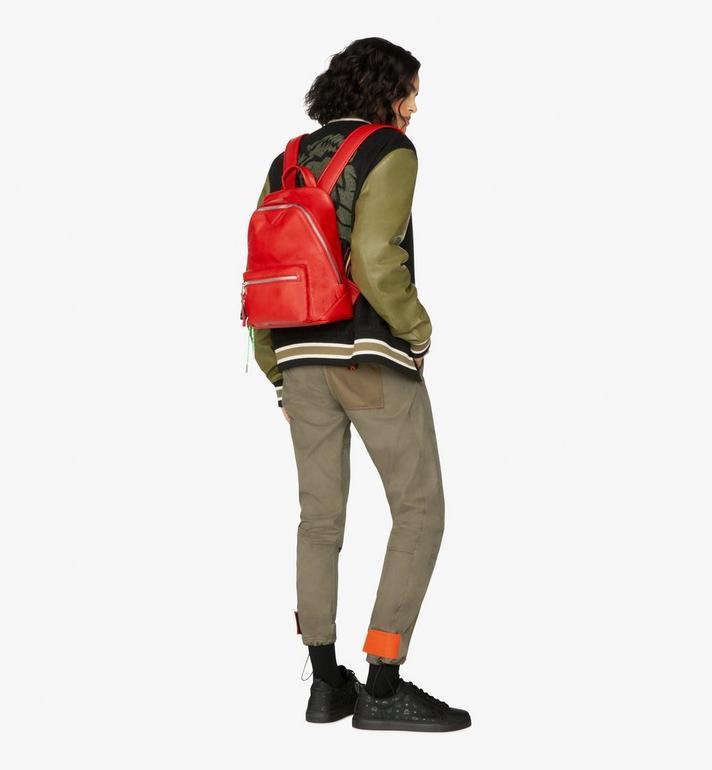 MCM Neo Duke Backpack in Leather Red MUK9ADK03RU001 Alternate View 7