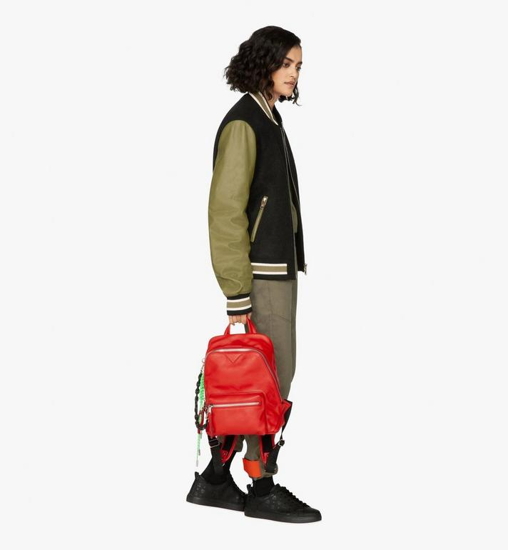 MCM Neo Duke Backpack in Leather Red MUK9ADK03RU001 Alternate View 8