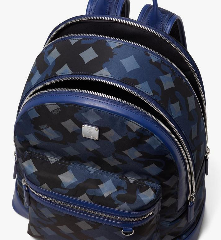 MCM Dieter Backpack in Munich Lion Camo Blue MUK9ADT90VE001 Alternate View 4
