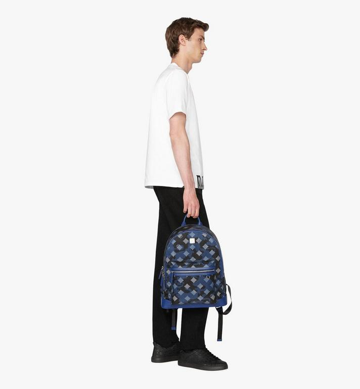 MCM Dieter Backpack in Munich Lion Camo Blue MUK9ADT90VE001 Alternate View 5