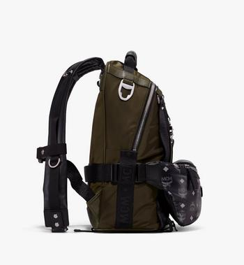 MCM Jemison 2-in-1-Nylonrucksack mit Logo Alternate View 2