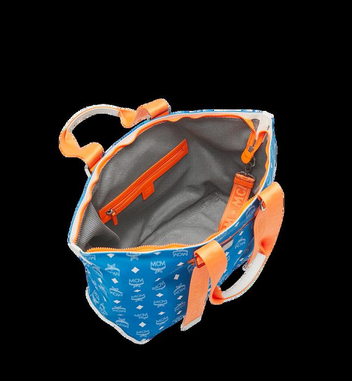 MCM Resnick Shoulder Bag in White Logo Nylon Alternate View 5