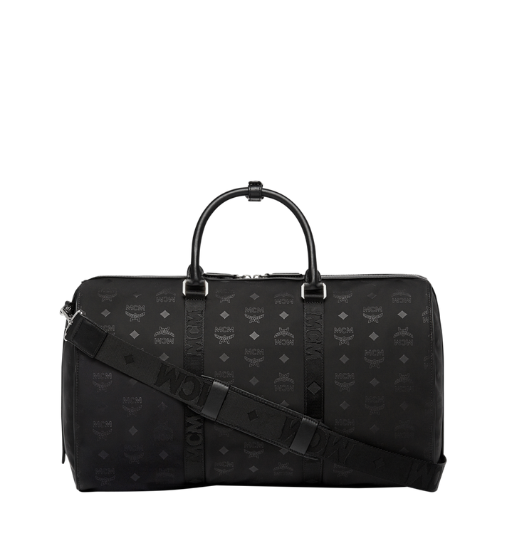 MCM Traveler Weekender in Monogram Nylon Black MUV7ADT15BK001 Alternate View 4