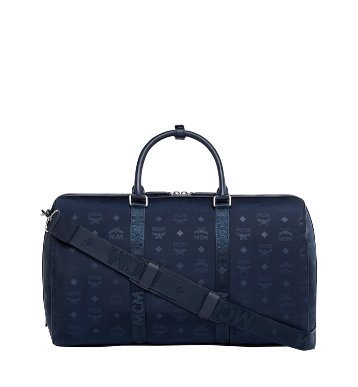 MCM Traveler Weekender in Monogram Nylon Navy MUV7ADT15VA001 Alternate View 4