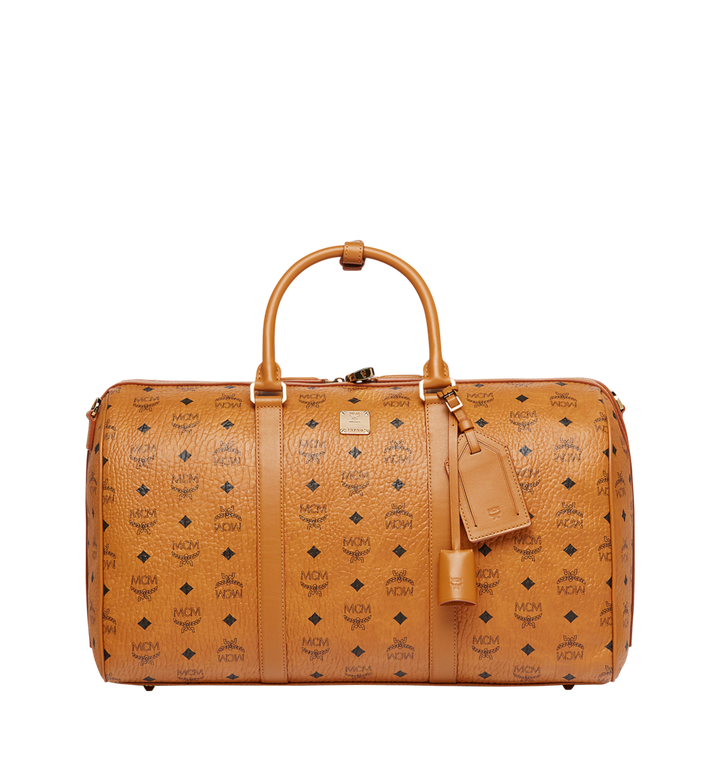MCM Sac week-end Traveler en Visetos Cognac MUV7AVY03CO001 Alternate View 1