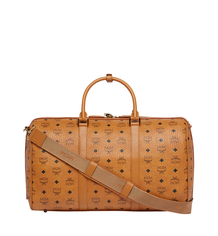MCM Sac week-end Traveler en Visetos Cognac MUV7AVY03CO001 Alternate View 4