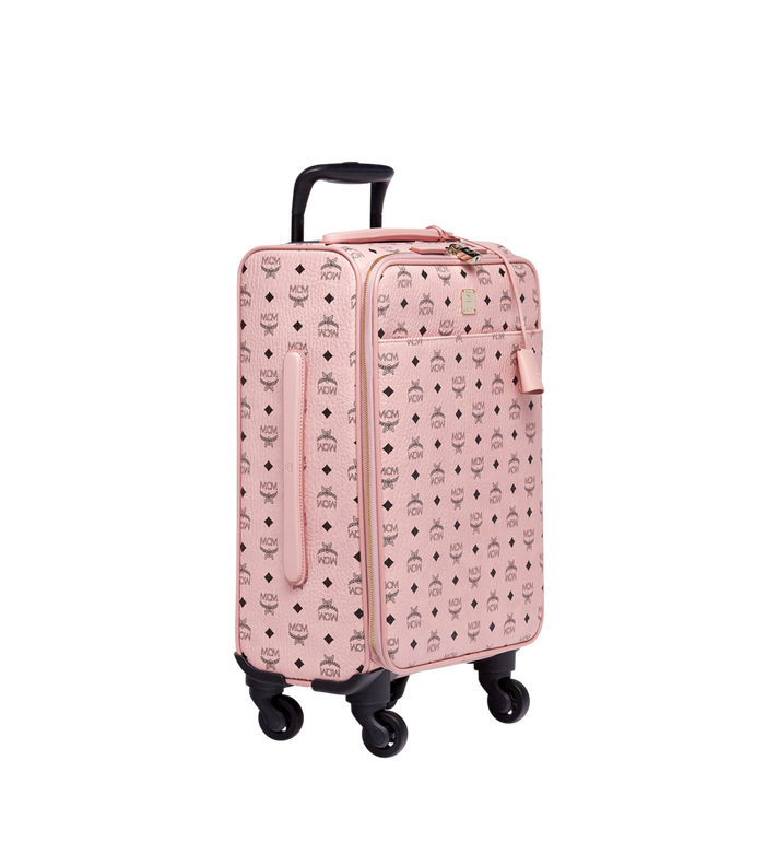 MCM Sac à roulettes pour cabine Traveler en Visetos Pink MUV7AVY04PZ001 Alternate View 2