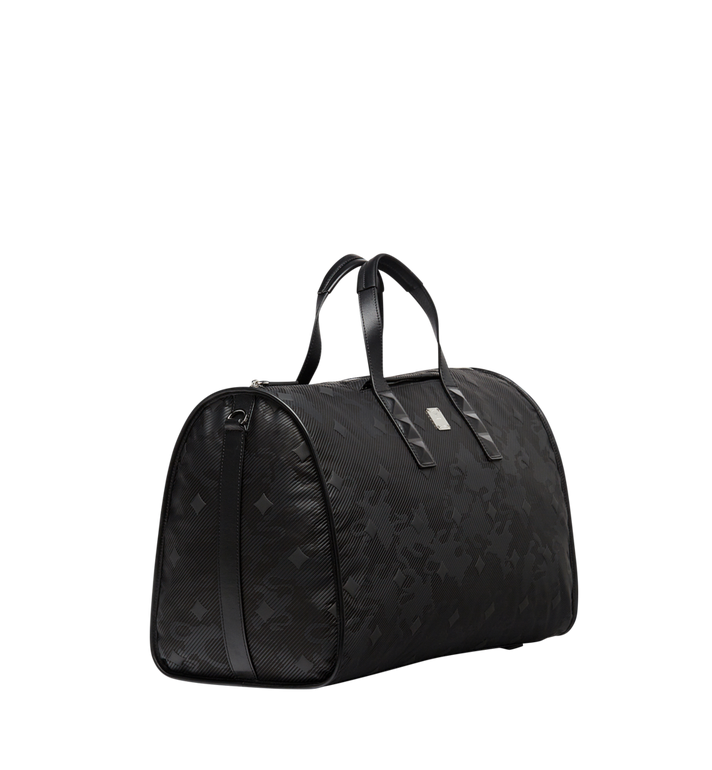 MCM Dieter Weekender-Tasche aus strukturiertem Nylon Black MUV8SDT75BK001 Alternate View 2
