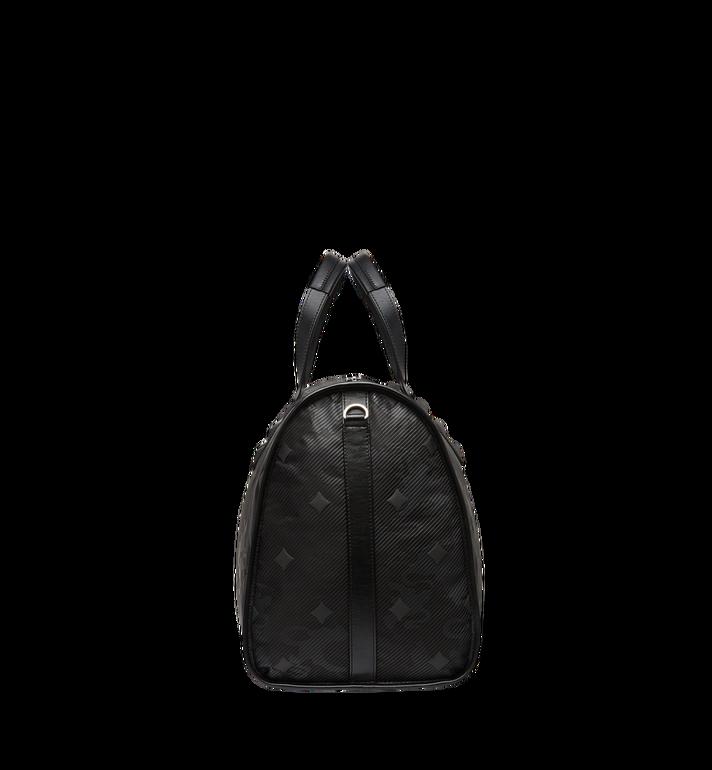 MCM Dieter Weekender-Tasche aus strukturiertem Nylon Black MUV8SDT75BK001 Alternate View 3