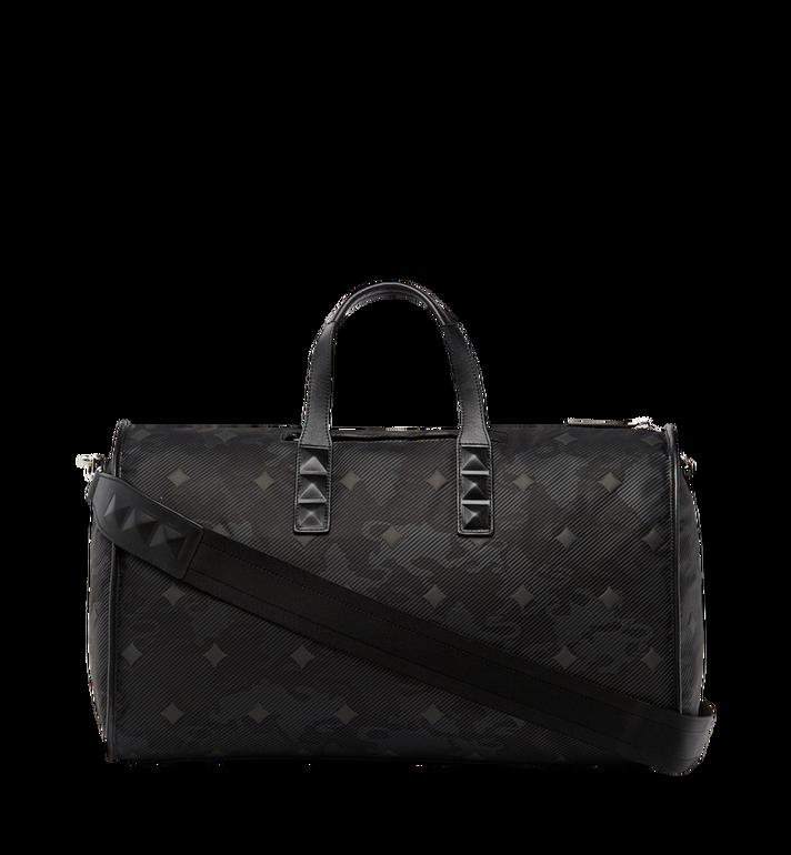 MCM Dieter Weekender-Tasche aus strukturiertem Nylon Black MUV8SDT75BK001 Alternate View 4