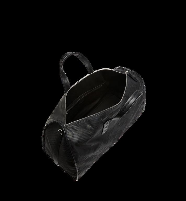 MCM Dieter Weekender-Tasche aus strukturiertem Nylon Black MUV8SDT75BK001 Alternate View 5