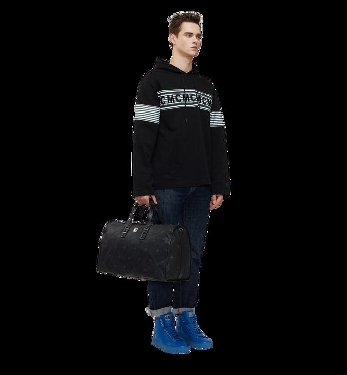 MCM Dieter Weekender-Tasche aus strukturiertem Nylon Black MUV8SDT75BK001 Alternate View 6
