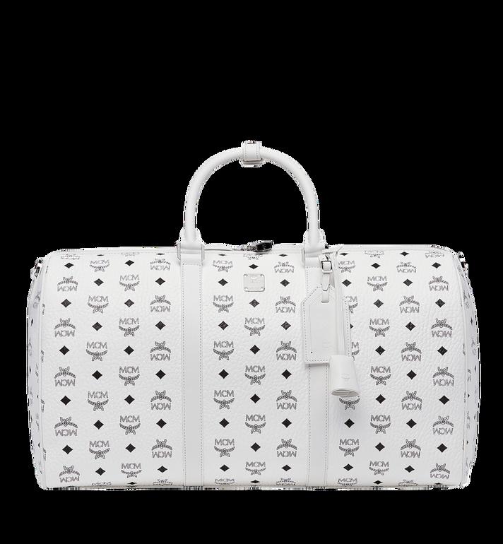 Large Traveler Visetos Duffel Bag - White in Wt