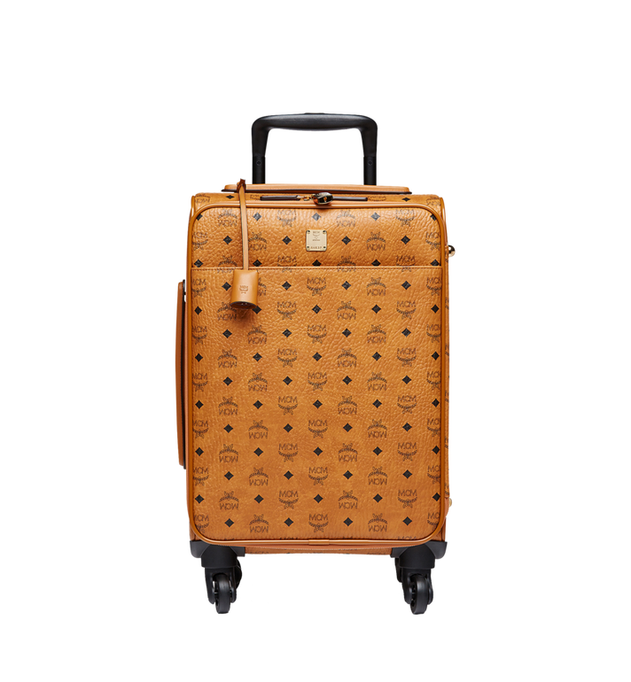 MCM Traveler Cabin Trolley in Visetos Cognac MUV8SVY04CO001 Alternate View 1